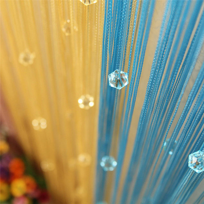 New Chic Beaded Curtain Crystal Divider Decorative String Door Window Room Panel(China (Mainland))