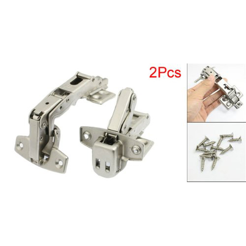 WSFS Hot Sale 2Pcs Stainless Steel 175C Angle Full Overlay Cabinet Door Hinge Free Shipping(China (Mainland))