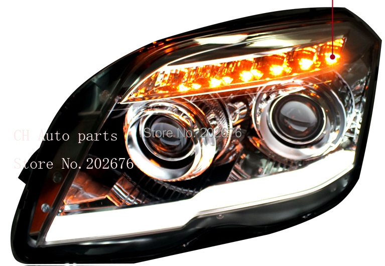 FREE SHIPPING, CHA GLK MERCEDES BENZ HEADLIGHT ASSEMBLY, WITH LED DAYLIGHT AND HID PROJECTOR FOR BENZ<br><br>Aliexpress