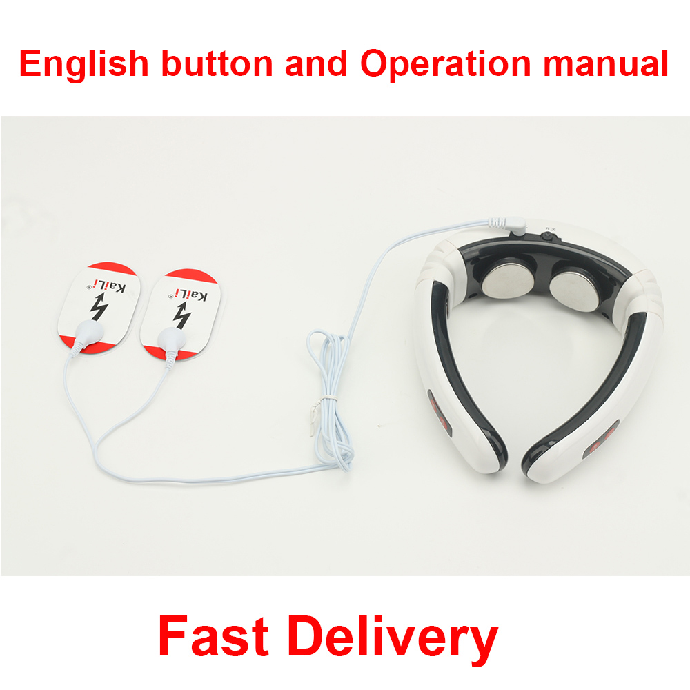 New Best Quality Electric Neck Massager Neck Care Therapy Instrument Far Infrared Heating Cervical Vertebra Hauling Massager(China (Mainland))