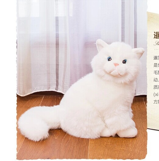 25x 20 cm simulation cat Thailand Noble cat plush toy lovely Siamese cat doll surprised gift w4795<br><br>Aliexpress