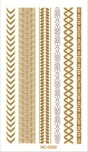 HC-5002 Unique Design Gold Tatoo Taty Temporary Tattoo Flash Tattoo Flash Metallic Tattoos Golds Tattoos Tatuagem Tatuajes