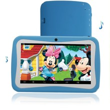 7Inch Children's Tablet PC Education Android 4.4 512MB 8GB Quad core Dual camera Nice Design Learning entertainment tablet