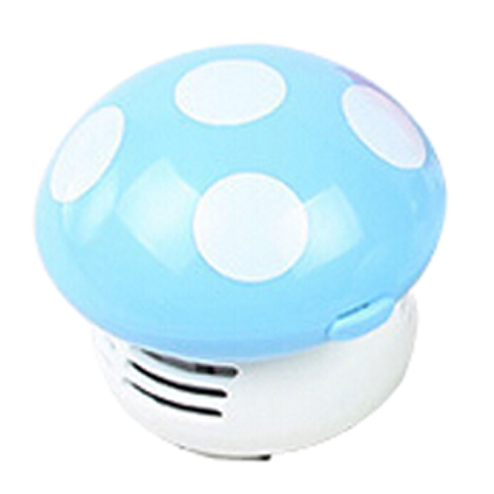GTFS-New Home Handheld Mushroom Shaped Mini Vacuum Cleaner Car Laptop keyboard Desktop Dust cleaner-blue(China (Mainland))