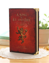 Free Shipping Game of Thrones Notebooks Vintage Hardcover Notebook for Gift Movie A Song of Ice and Fire A5 Size Nine Designs