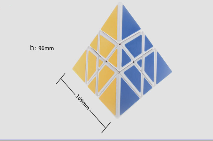 White YJ Tower Pyraminx Magic Cube Speed Puzzle Childs Toys Christmas Gifts(China (Mainland))