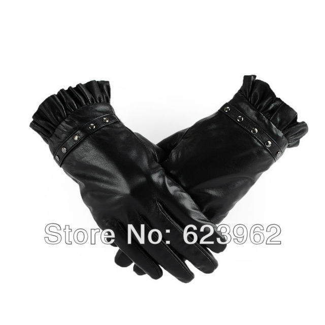 New winter fashion female models leather gloves cycling gloves
