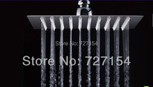 Free Shipping! 8 inch perfect new square bathroom stainless steel rain shower head(China (Mainland))
