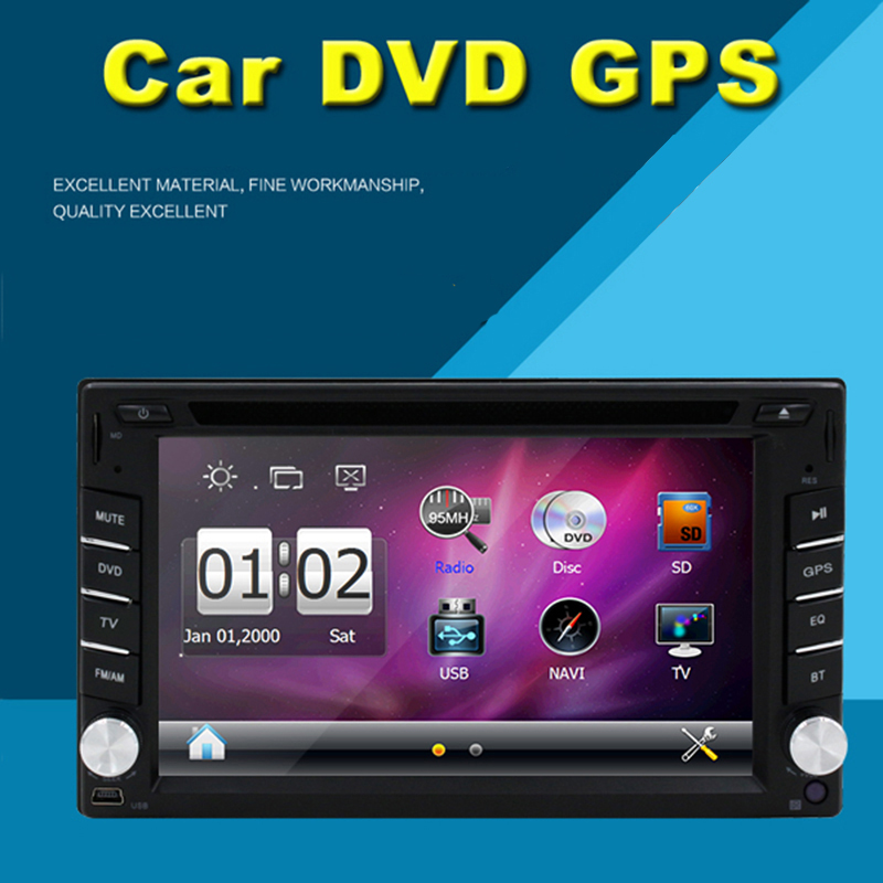 2016 New Arrival Double 2 Din 6.2''inch Car Radio Player Support Bluetooth Car GPS navigation DVD Audio Player Free map(China (Mainland))