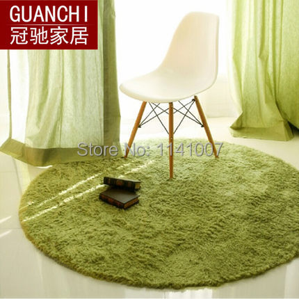 High Quality 80cm Diameter Free Shipping Carpets for Living Rug and Carpets Circle Mats Computer Cushion 12 Colors(China (Mainland))