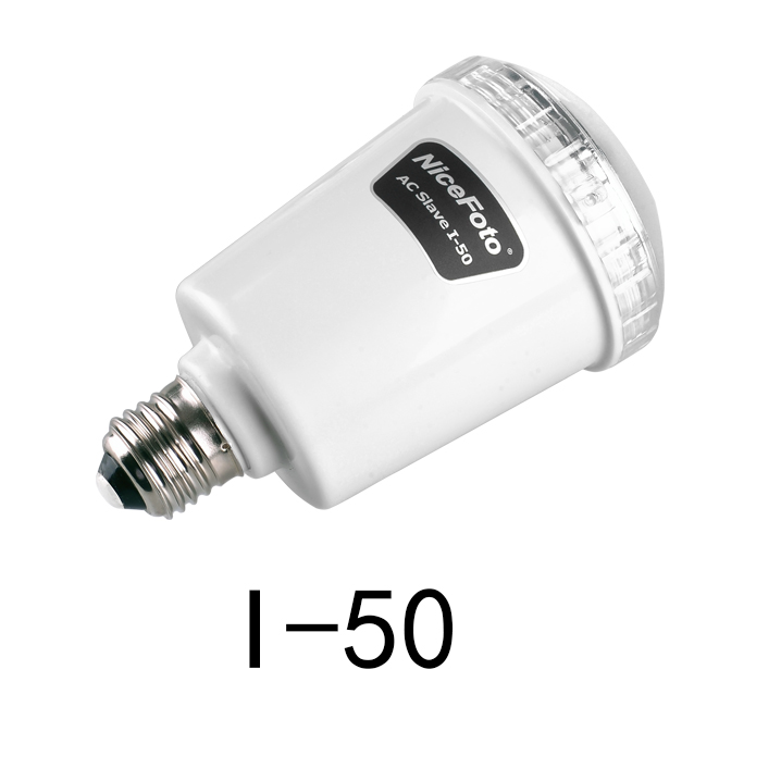 NICEFOTO I-50 Mini Studio Falsh Light 45W 5500K AC Slave Flash Bulb E27 110V or 220V(China (Mainland))