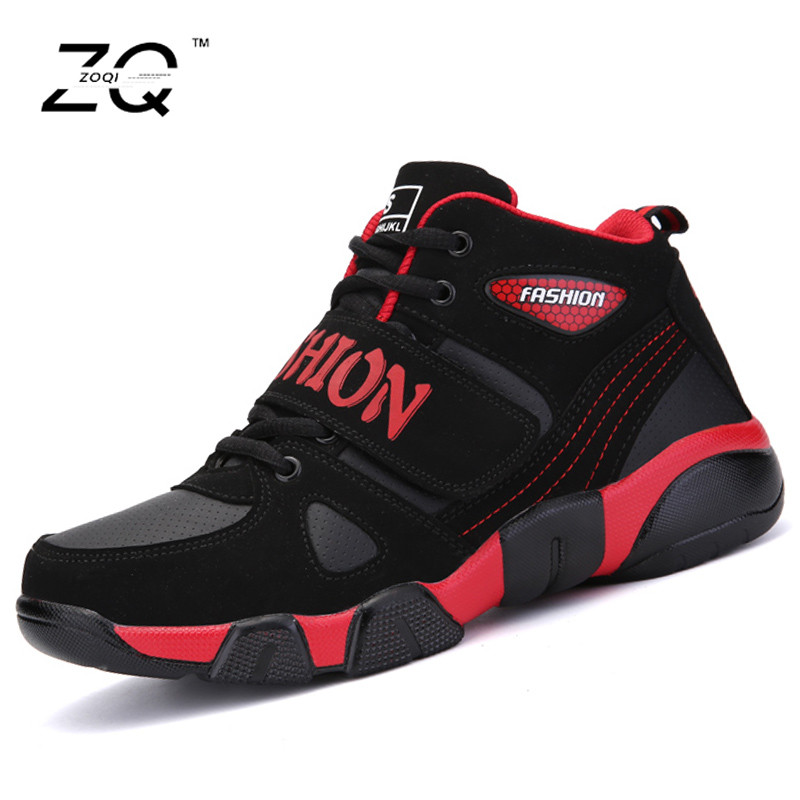 ZOQI 2016 New Men Basketball Shoes Brand Fashions Sports Shoes Men Sneakers Black Basketball Shoes For Men Chaussure Homme(China (Mainland))