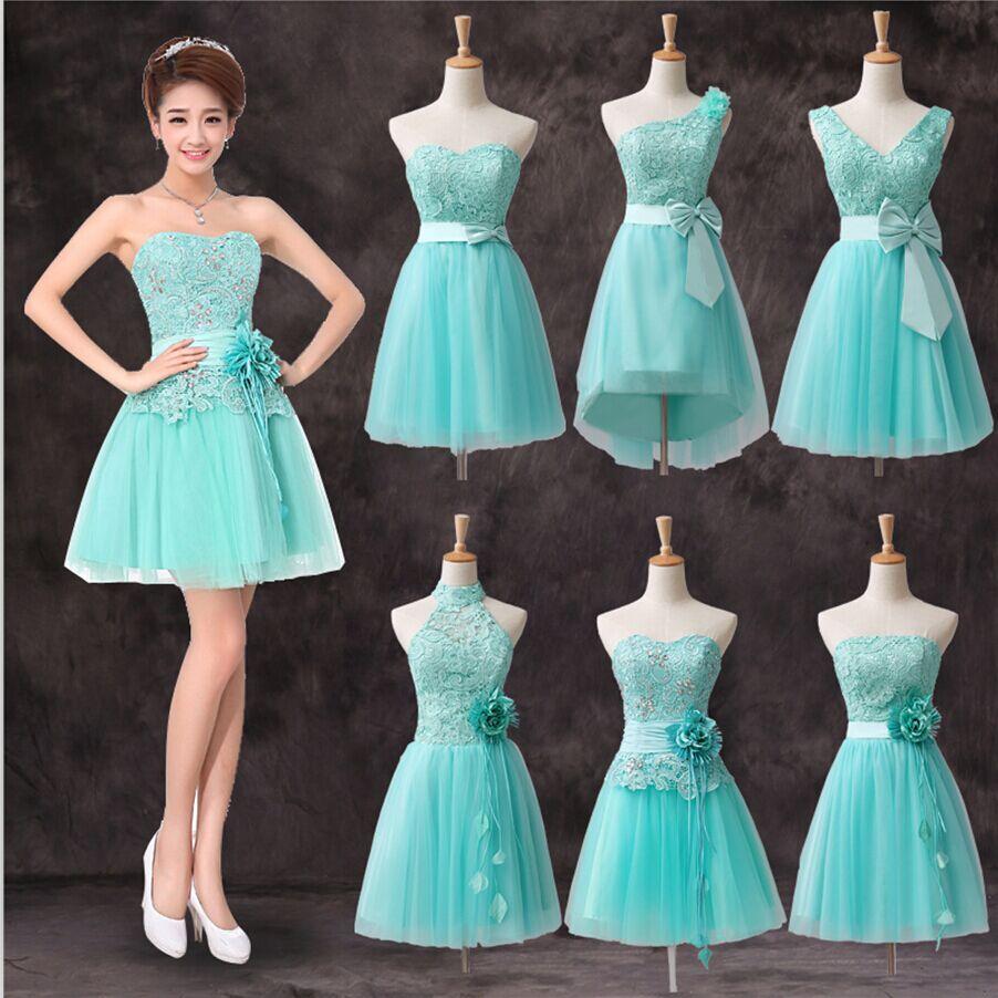 Фото коротких платьев мятного цвета