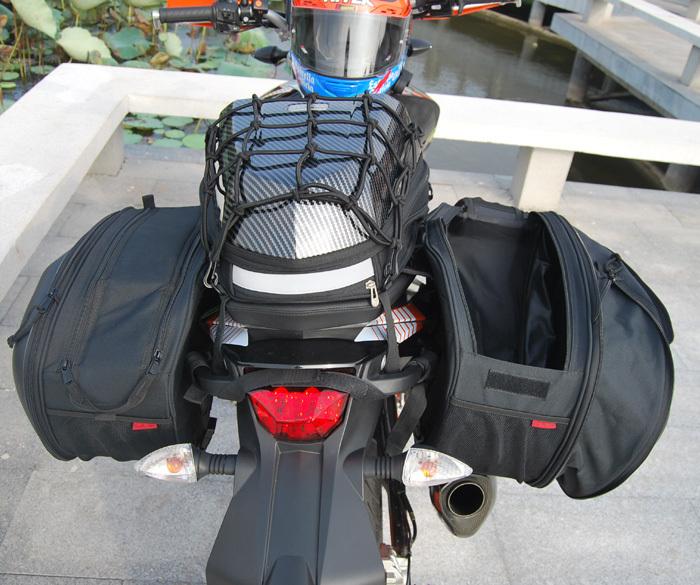 ᗐ1 Pair Komine Sa 212 Sa 212 Saddle Bags Motorcycle Tail