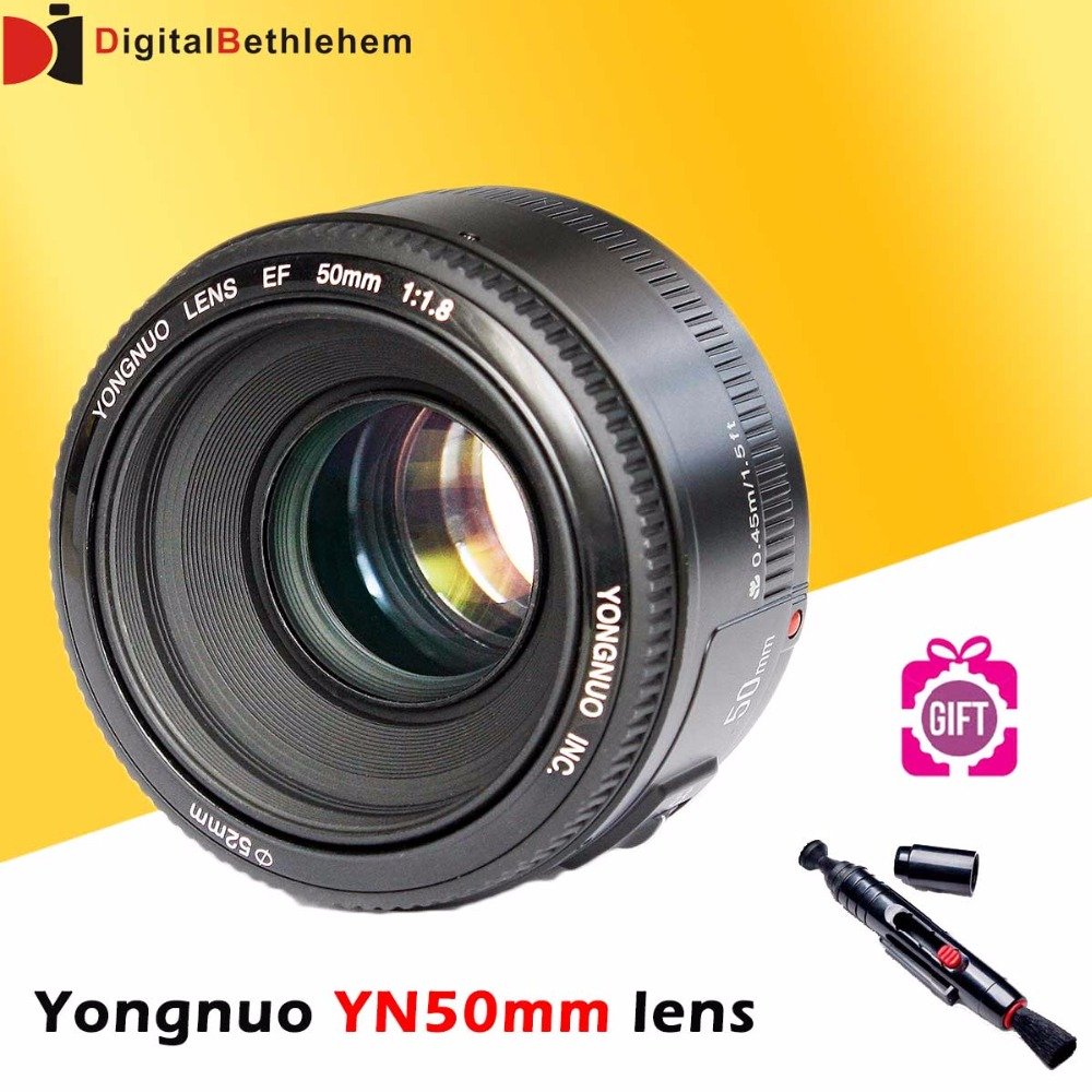 YONGNUO YN <font><b>50mm</b></font> F1.8 Lens Large Aperture Auto Focus Lens <font><b>50mm</b></font>/f1.8 for <font><b>Canon</b></font> EOS DSLR Cameras