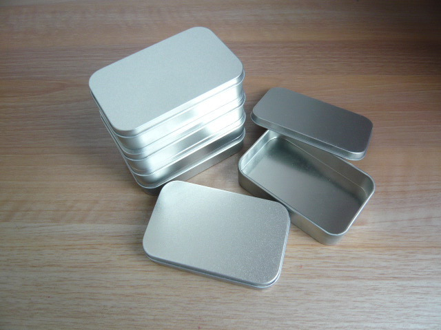 High quality 10.7*7.2*4cm Metal Storage Cases, Tin storage Boxes Steel favors gift packaging Holder, 25pcs/lot(China (Mainland))