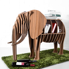 1 set 32*47 Inch 2016 New Modern Design Creative Wooden Elephant Model Art Table Furniture For Living Room Decorative Furniture (China (Mainland))