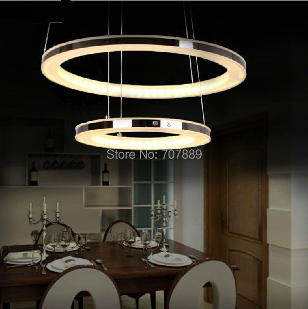 chandelier acrylic pendant lamp living room dining room hanging light