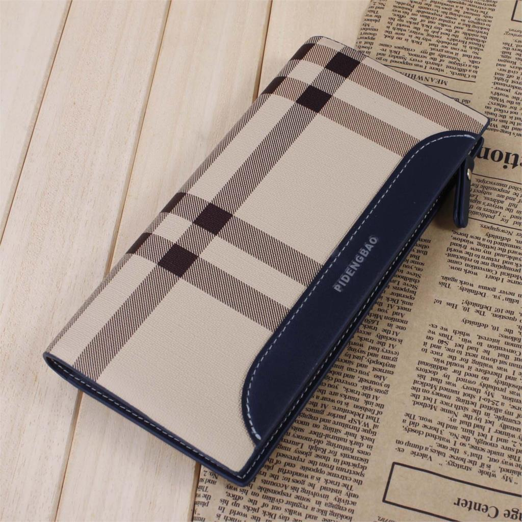 New promotion hot sale men's genuine leather wallet male leather lines purse/wallet travel wallet(China (Mainland))