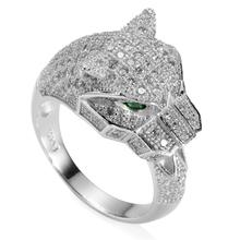 Романтический модный CZ белый и зеленый кубический цирконий S 925 чистое серебро красивая кольцо R--3740 sz # 6 7 8 9(China (Mainland))