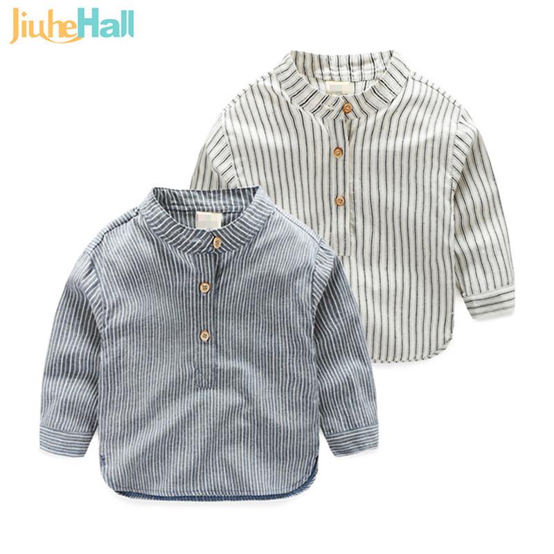 Spring/Autumn New Design Boys Stand Collar Shirts European & American Style Boys Striped Shirts Long Sleeve Boys Shirts CMB275(China (Mainland))