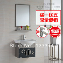 Bathroom cabinet with wash basin bathroom furniture stainless steel bathroom vanities(China (Mainland))
