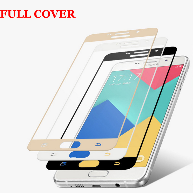 3D Curved Edge Full Cover Premium Tempered Glass Screen Protector for Samsung Galaxy A5 2016 A5100 A7 2016 A7100 Protective Film(China (Mainland))