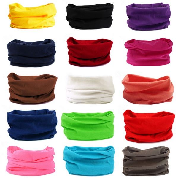 2016 Solid Colors Cycling Face Mask Racing Tube Scarf Bandana Head Neck Gaiter Warmer Snood Bicycle Riding Plain Headwear Beanie(China (Mainland))