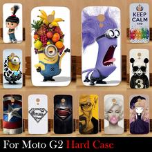 For Motorola Moto G2 G+1 XT1063 XT1068 XT1069 Hard Plastic Mobile Phone Cover Case DIY Color Paitn Cellphone Bag Shell