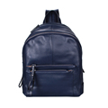 Multi Zipper Pockets Women Solid Color Fashion Small Backpack Preppy Style Simple School Bag Designer Plain