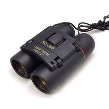 30 x 60 prismáticos caza que acampa al aire plegable telescopio Binocular