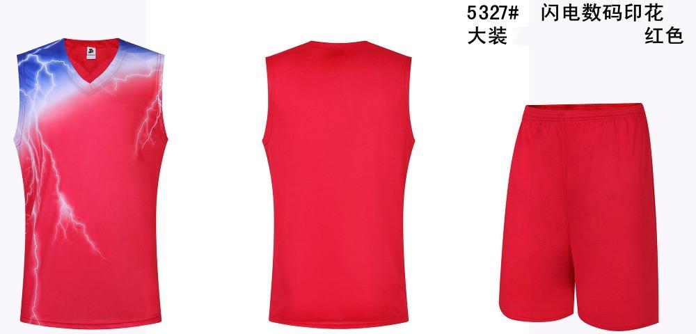new Mens slam dunk basketball jersey lightning flash boys blank throwback basketball jerseys breathable sports shirts uniforms(China (Mainland))