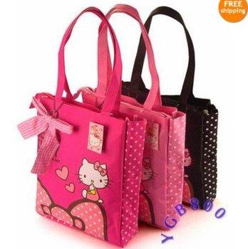 Cute hello kitty Fashional Hand Bag Shopping Purse Ladys Girls+free shipping