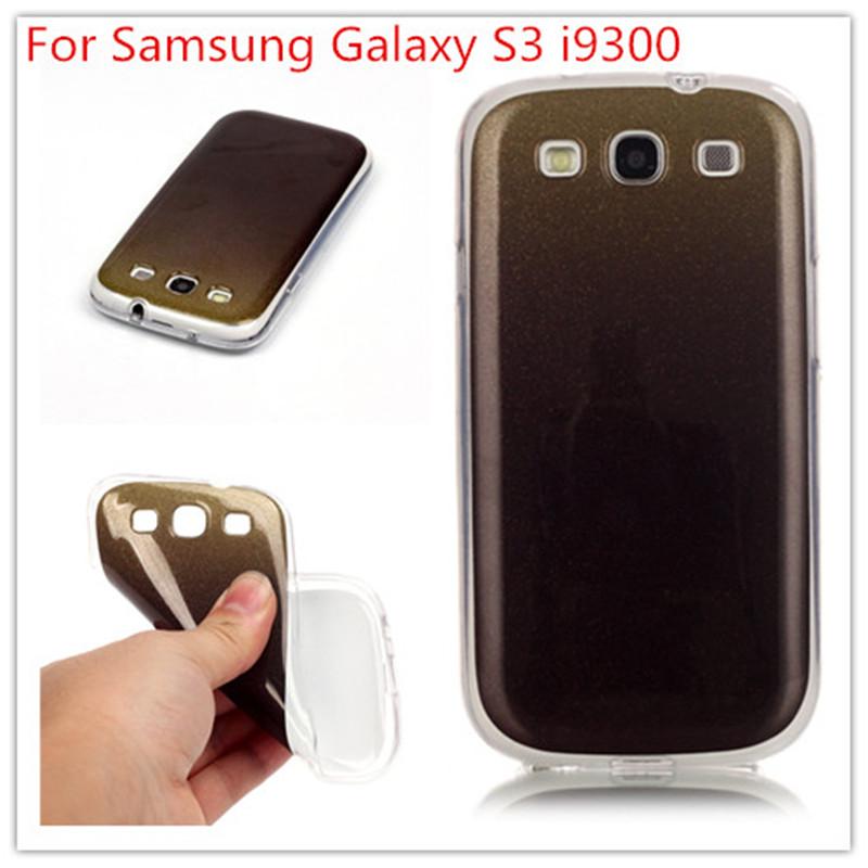 IMD gradient flash powder capinhas para Cover For Samsung Galaxy S3 i9300 Case Fashion Soft TPU Silicone Mobile Phone Case(China (Mainland))