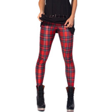 New Fashion Women's Pants Plus Size Black Milk Galaxy Tartan Red Digital Print Skinny Leggings For autumn
