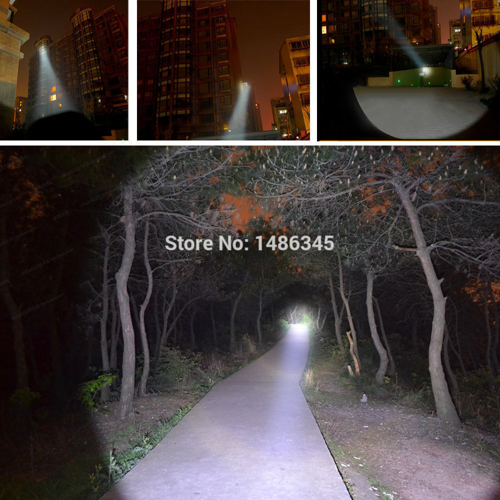 Promotion Bright 5 Modes led flashlight 3800 Lumen Zoomable CREE XML T6 LED 18650 Flashlight Focus Torch Zoom Lamp Light<br><br>Aliexpress