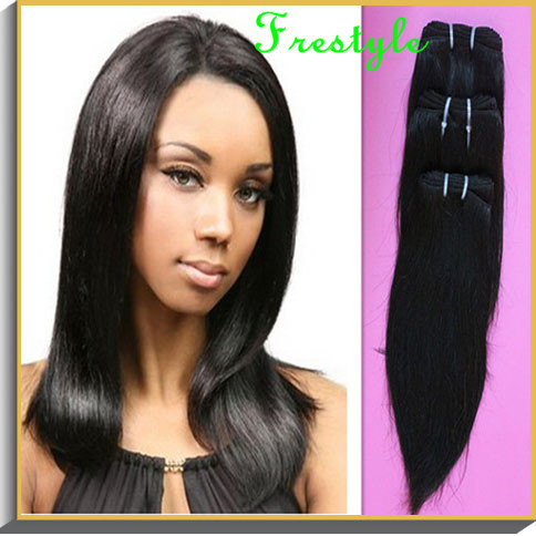 ,#1b nature black, brazilian virgin remy hair straight extension,2-lot,short mixed length size 8 inch10 inchinch - Frestyle human (Factory price store)
