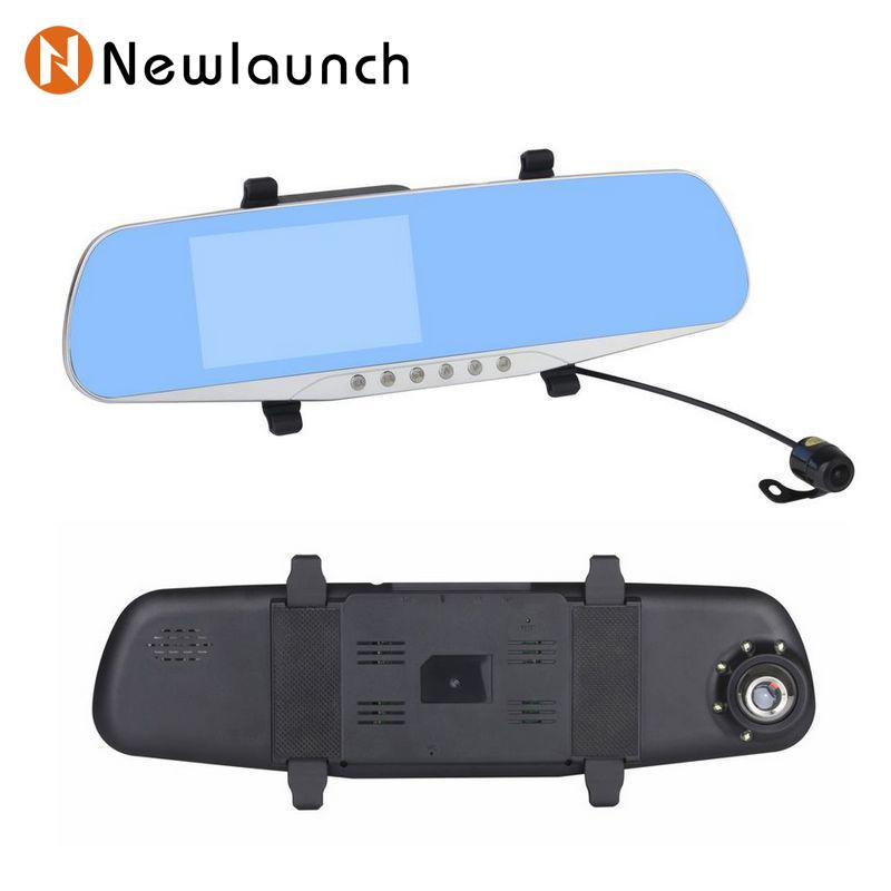 Car Dual Lens car dvr camera rearview mirror rear view recorder 1080p full HD cars carcam video Loop Recording Night Vision(China (Mainland))