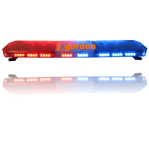 "12V - 24V 47""Inch 88 LED Wrecker Beacon Flashing Recovery LightBar Strobe Light Bar Red/Blue(China (Mainland))"