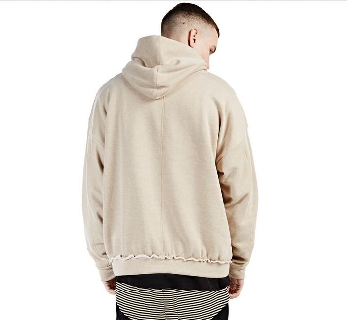 Men/women Camel Hoodies khaki streetwear baggy ripped ...