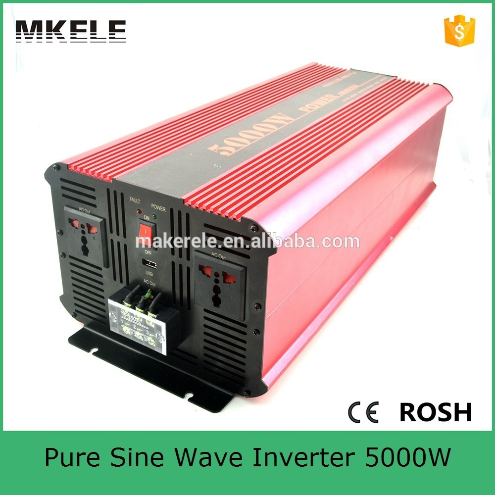 MKP5000-121R off grid 5kw solar inverter 5000w 12vdc to 120vac pure sine wave power inverter for home application(China (Mainland))