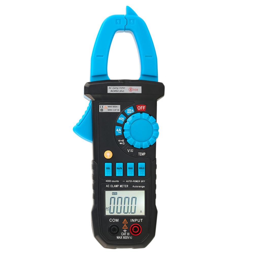 High Sale BSIDE ACM02 600A Autoranging Temperature Capacitance Frequency Measuring Digital Clamp Meter Multimeter