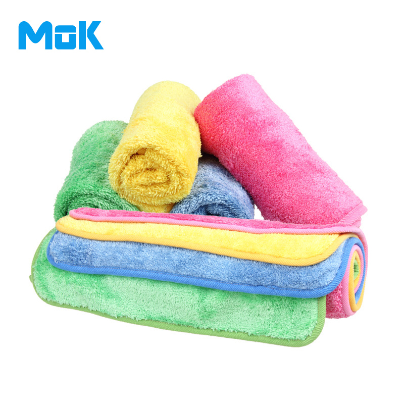 4 Pieces Microfiber Super Fine Bright Hanging Cleaning Cloth Kitchen Scouring Pad Glass Washing Water Absorption 30x40cm(China (Mainland))