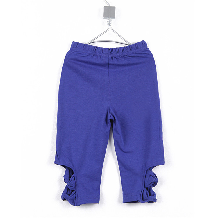 2015 summer at a sale new style bow baby girls casual middle pants little girls solid color pants girls leggings A2212(China (Mainland))
