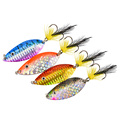 Free shipping hot sale New Arrival10g 20g metal spoon lure with feather belt treble hooks colorsful