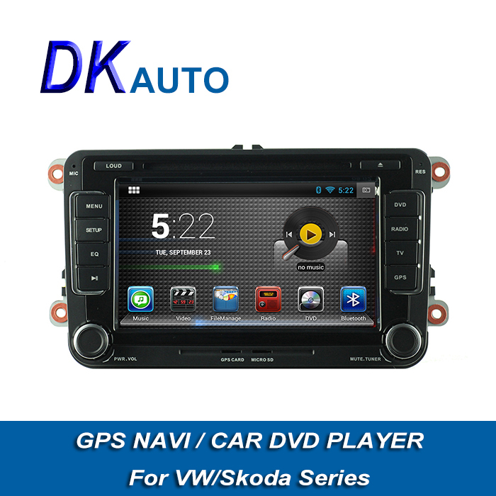 2 Din 7 Inch Android Car DVD For VW Skoda Seat Car Stereo With GPS Navigation 800*480 Touch Screen FM BT Wifi DVB-T SWC Music(China (Mainland))
