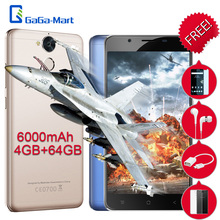 6000mAh Blackview P2 Mobile Phone Android 6.0 MTK6750T Octa-core 1.5GHz 4GB+64GB 13.0MP+8.0MP Fingerprint 5.5inch 4G Smartphone - GaGa-Mart store