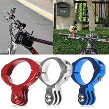 Aluminum Bike Bicycle Handlebar Bar Clamp Mount Holder Adapter Standard 31.8mm For Gopro Hero 1 2 3 3+ Camera Silver Blue Red(China (Mainland))