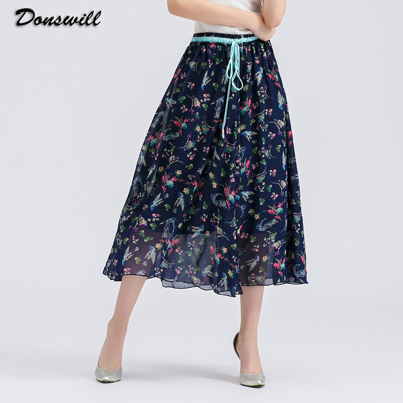 2016 New Bohemian Style Skirts Womens Large Size Maxi Skirt 14 Colors Selected Long Skirt ...