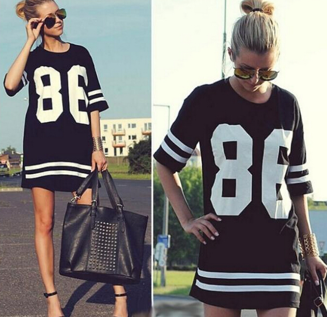 t shirt women Summer Dress 2015 Woman Clothes Letters Half Sleeve Cute America Baseball T Shirt Women ClothingYM195 - Fashion&pretty Life store